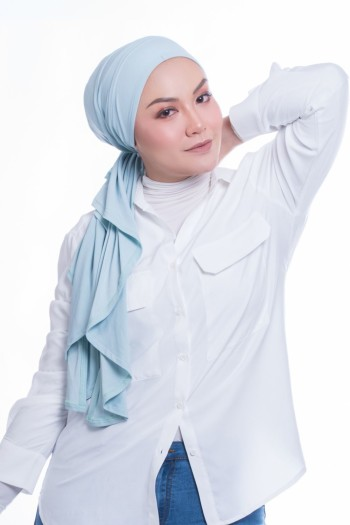 MEKNIS THE LABEL - Femme Turban - Baby Blue