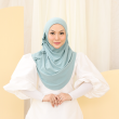 MEKNIS THE LABEL Yeoja Instant Hijab - Dusty Turqoise - MEKNIS