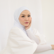 MEKNIS THE LABEL - Sonyeo Instant Hijab - White - MEKNIS