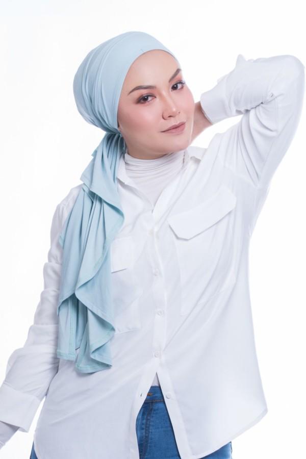 MEKNIS THE LABEL - Femme Turban - Baby Blue - MEKNIS