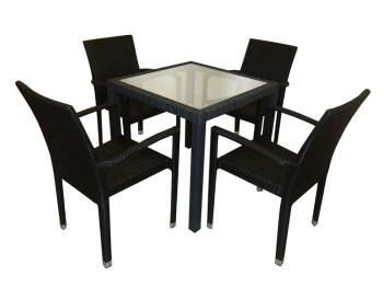 PANAMA TEAKTOP TABLE - HORESTCO FURNITURE
