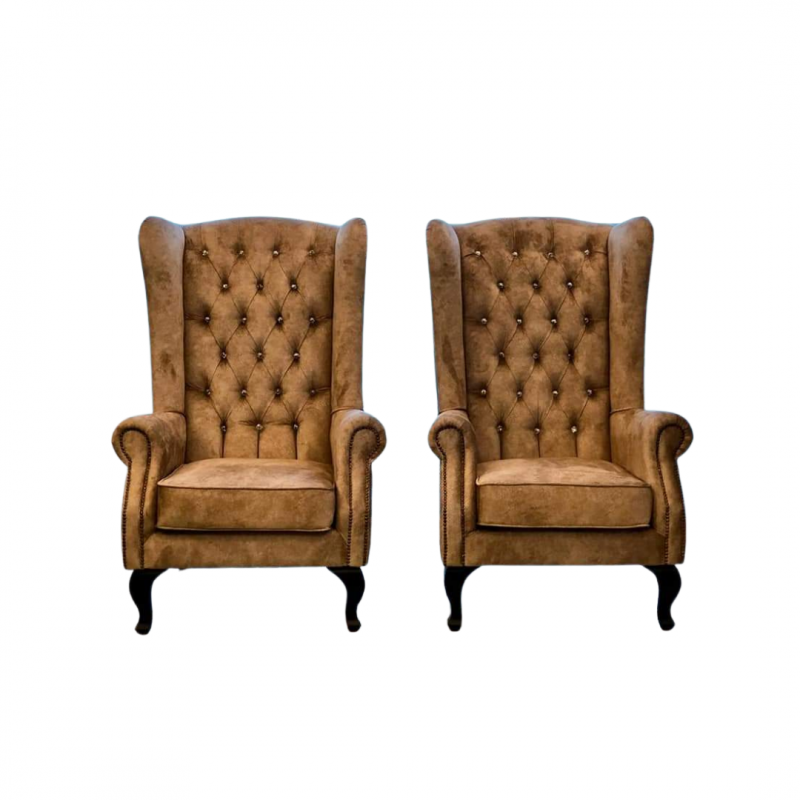 High Back Chesterfield Wing Chair