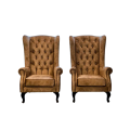 High Back Chesterfield Wing Chair - HORESTCO FURNITURE