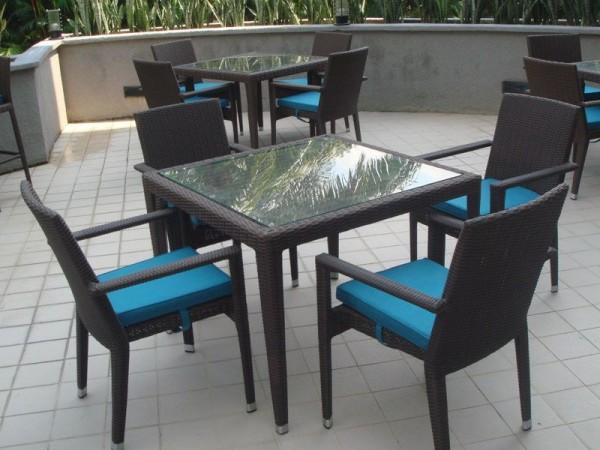 HAWAII GLASSTOP TABLE L240 - HORESTCO FURNITURE