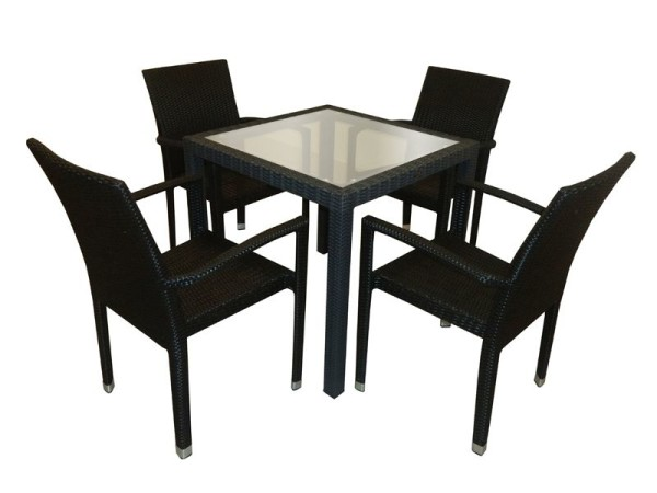 PANAMA GLASSTOP TABLE - HORESTCO FURNITURE
