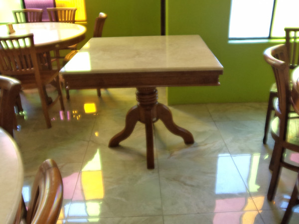 LOUIS MARBLETOP DINING TABLE - HORESTCO FURNITURE
