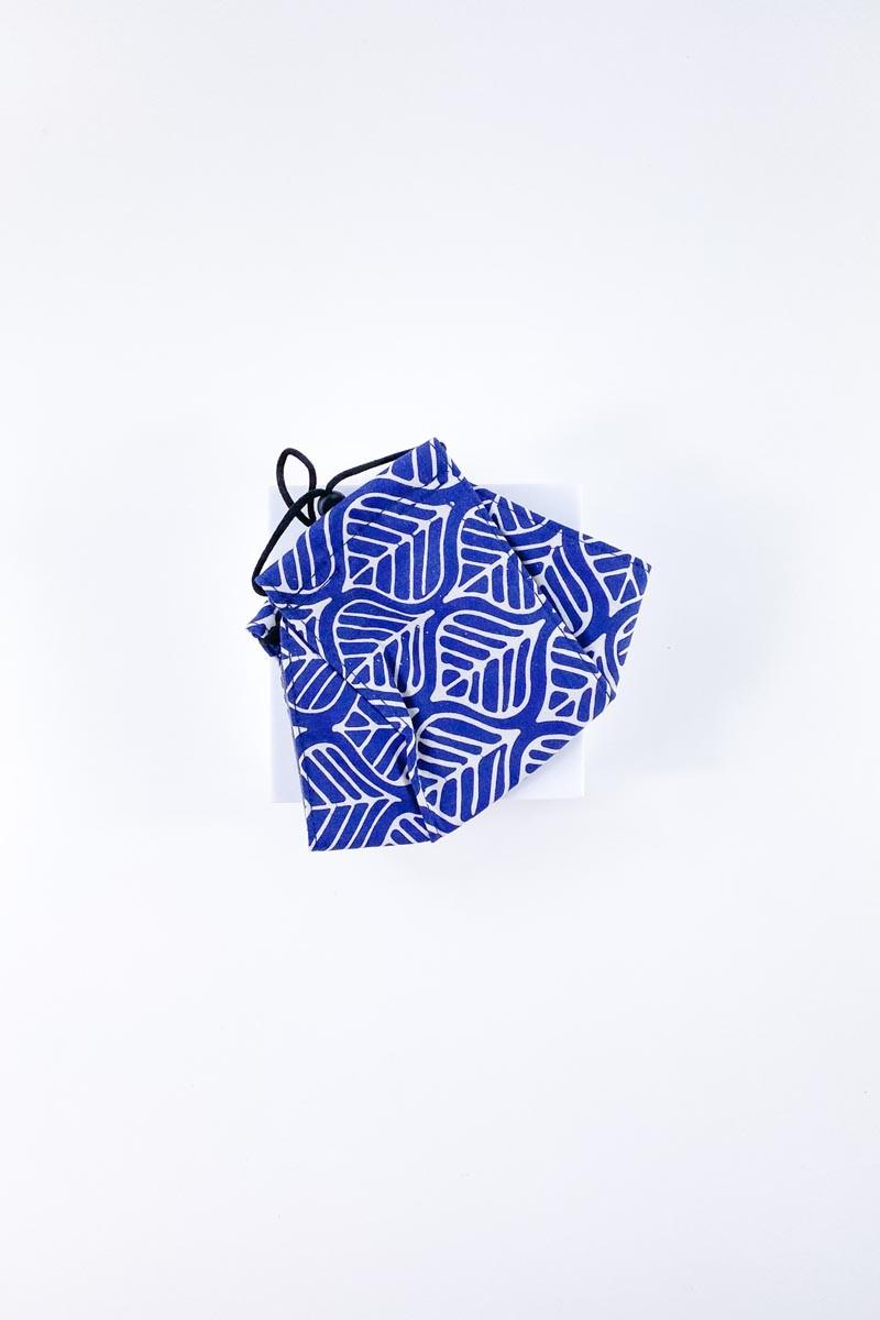Batek Cotton Face Mask (Dark Blue)