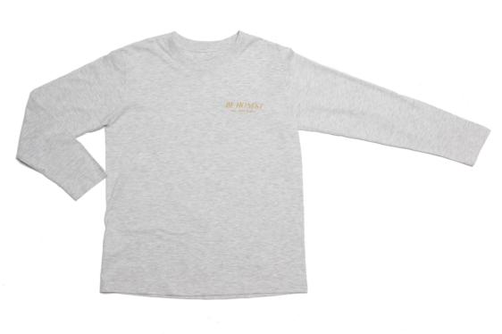 Be Honest Grey Long Sleeve T-Shirt