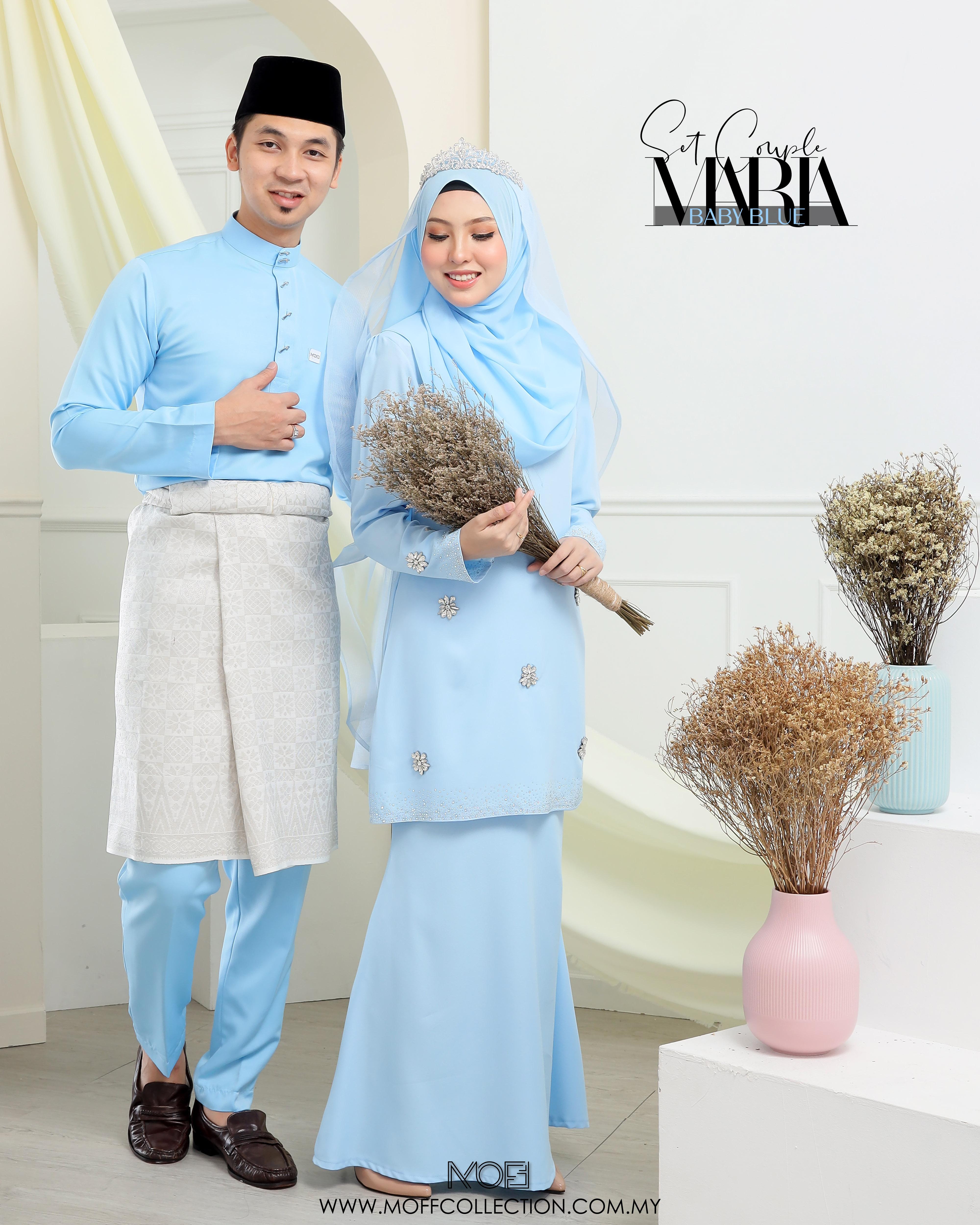 Bridal Set Maria In Baby Blue