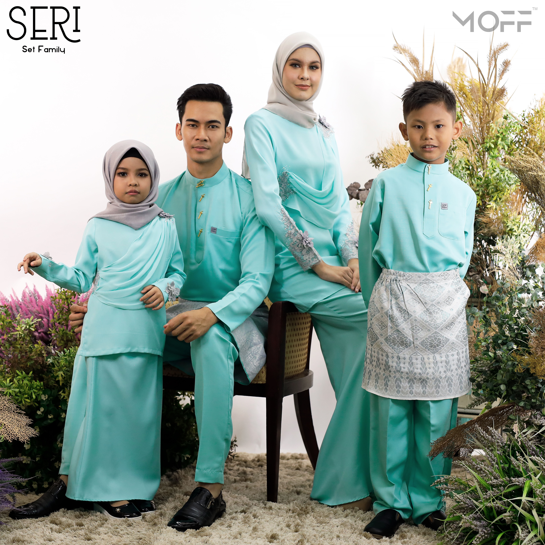 SET FAMILY 4 PASANG KURUNG SERI MINT GREEN