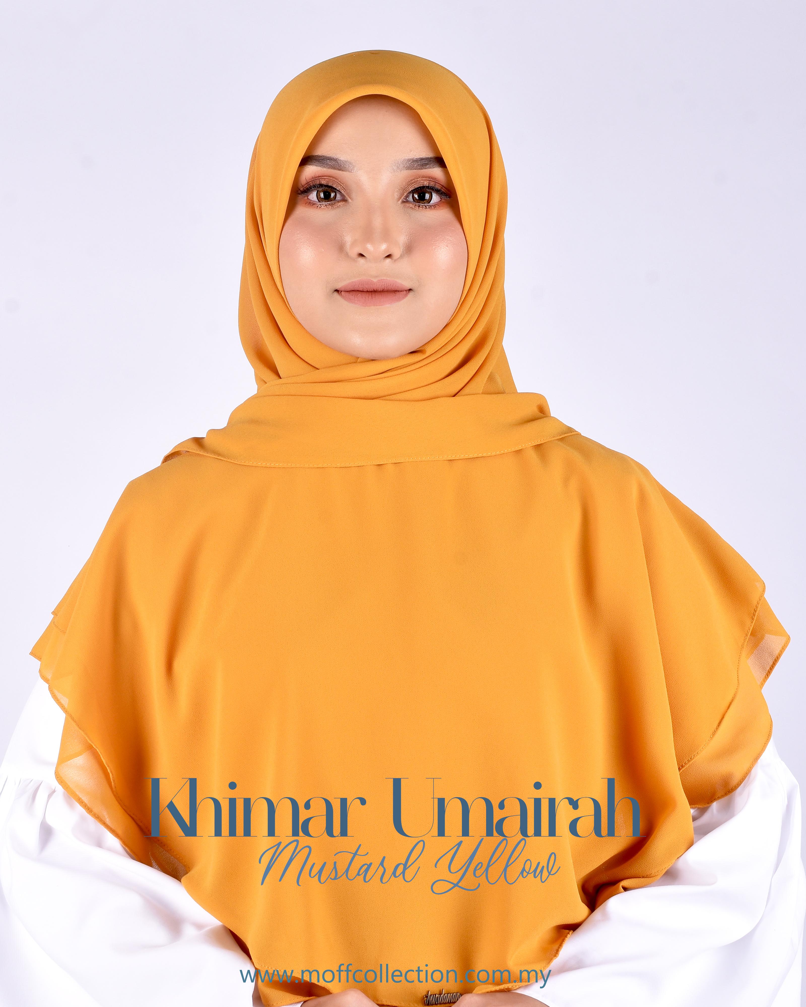 Khimar Umairah In Mustard Yellow