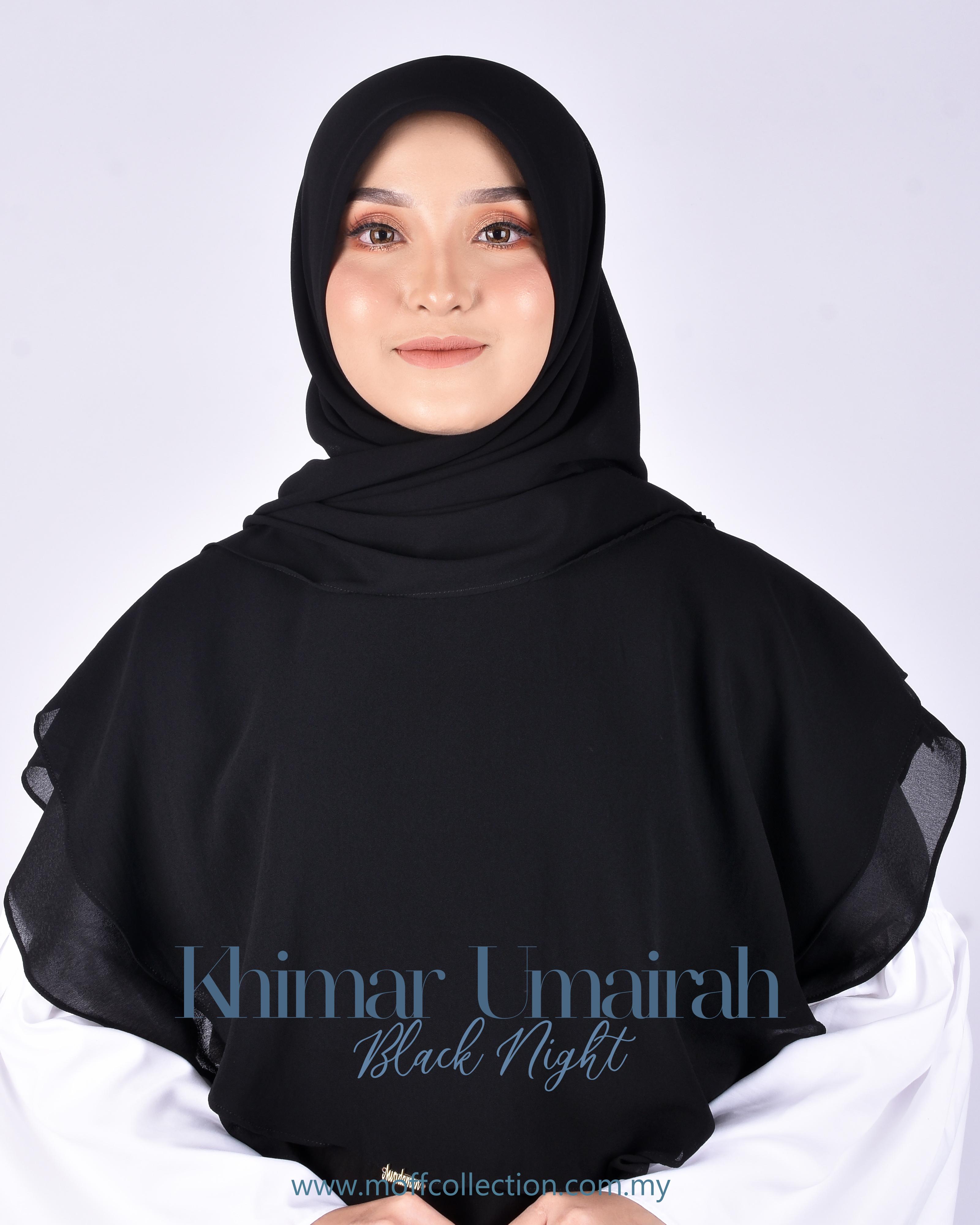 Khimar Umairah In Black Night