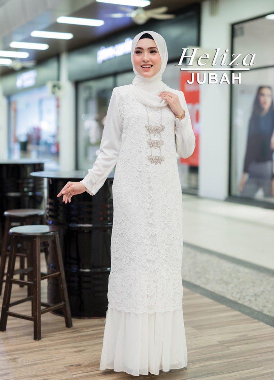 JUBAH HELIZA WHITE