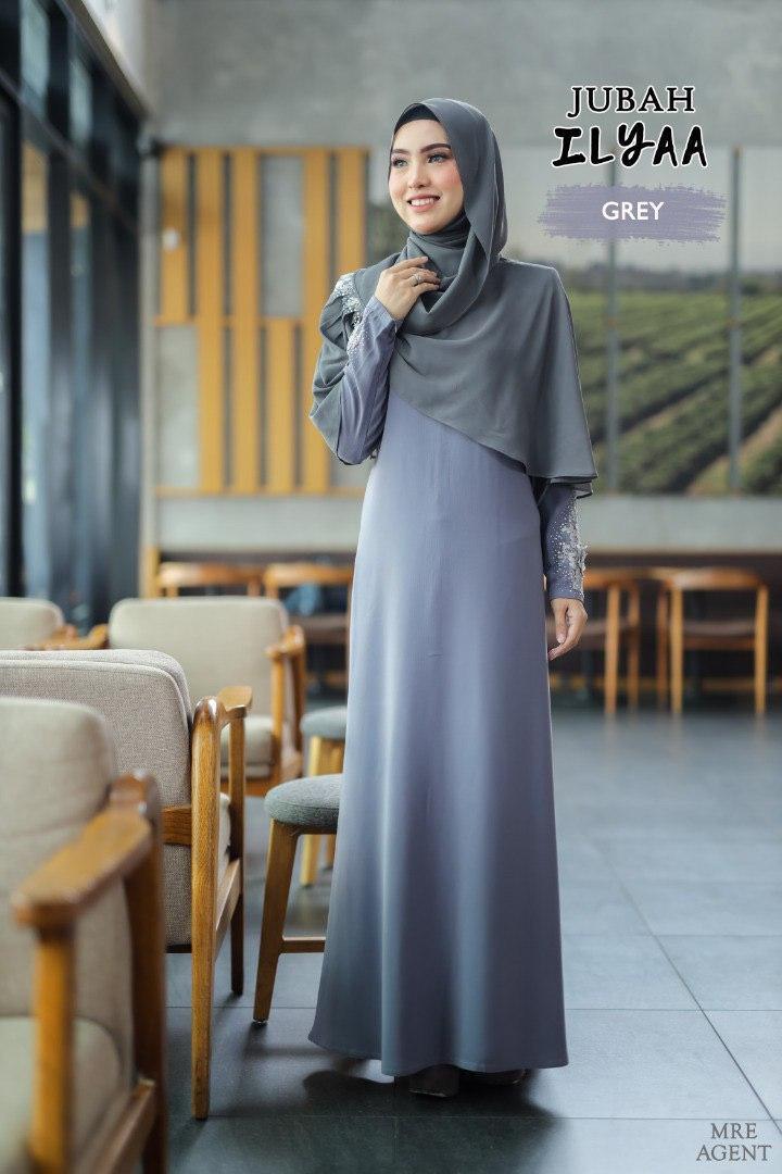Ilyaa Jubah In Grey