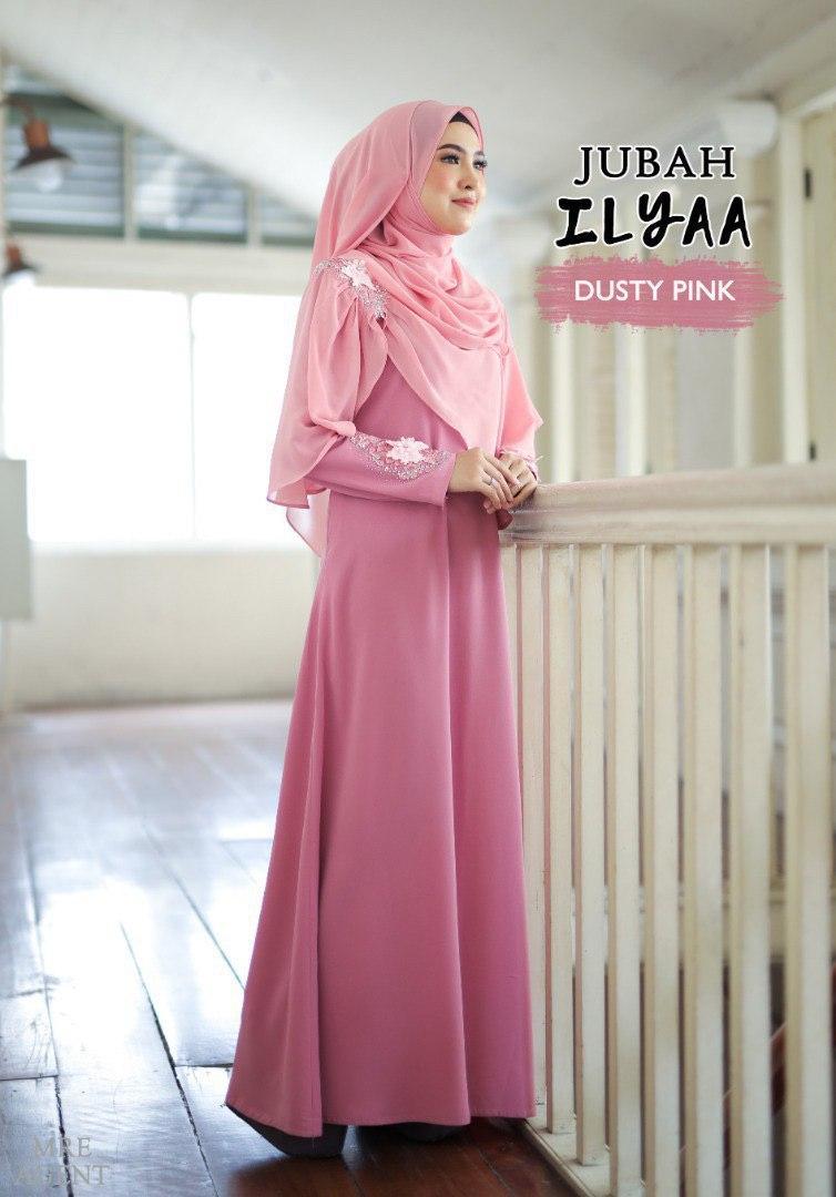 Ilyaa Jubah In Dusty Pink
