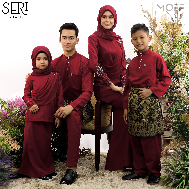 SET FAMILY 4 PASANG KURUNG SERI MARRON