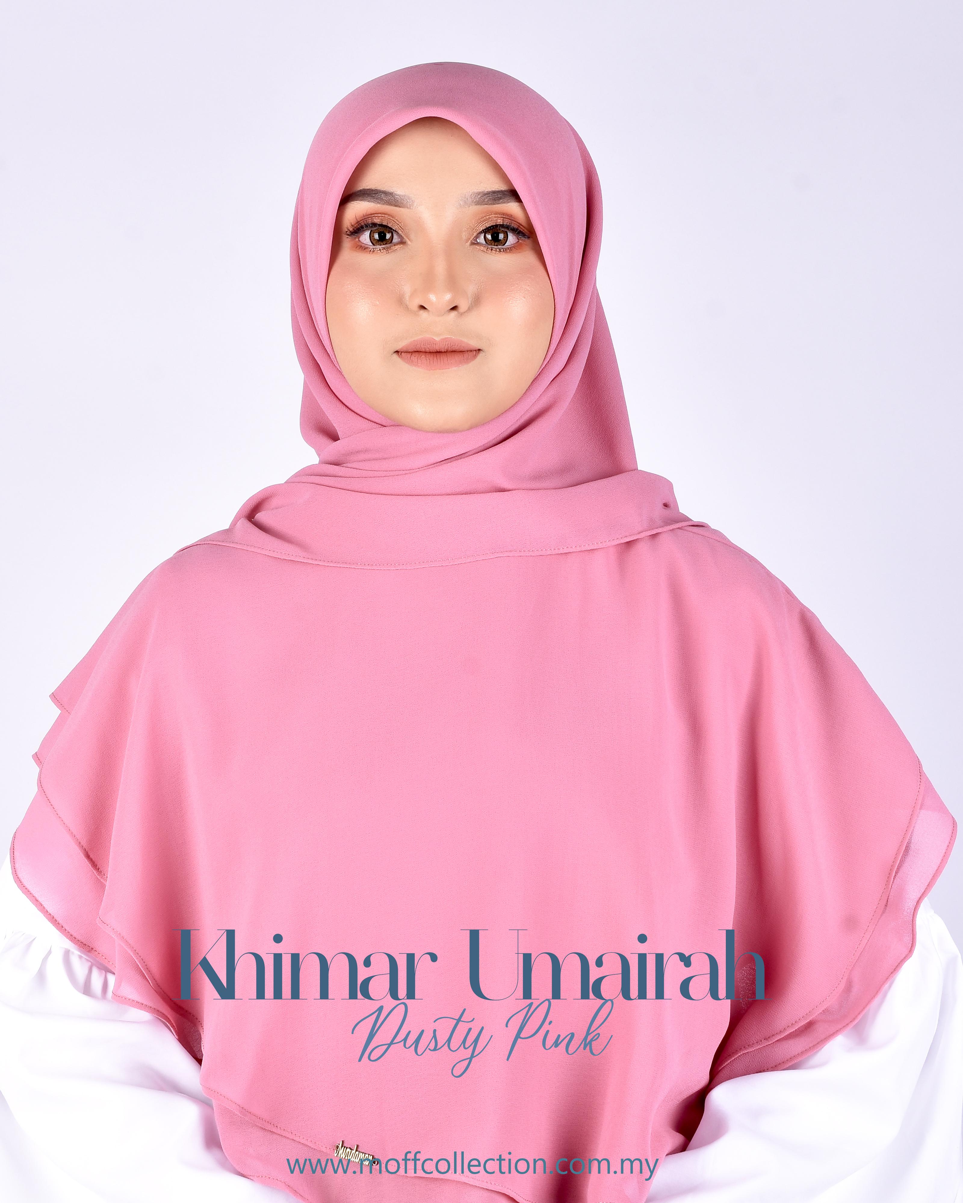 Khimar Umairah In Dusty Pink