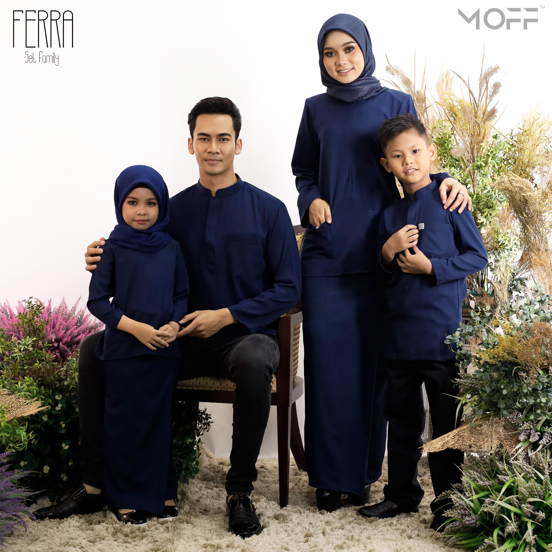 KURUNG KEDAH FERRA NAVY BLUE