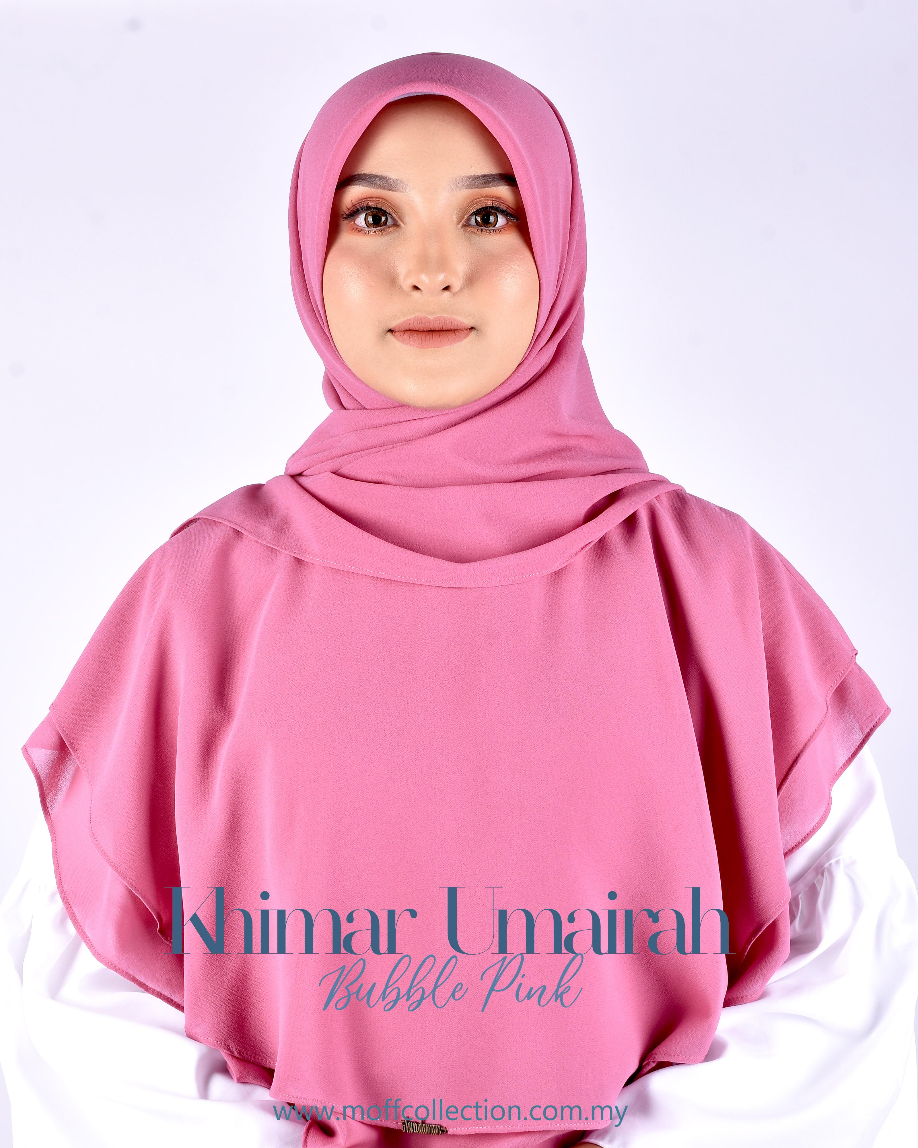 Khimar Umairah In Bubble Pink