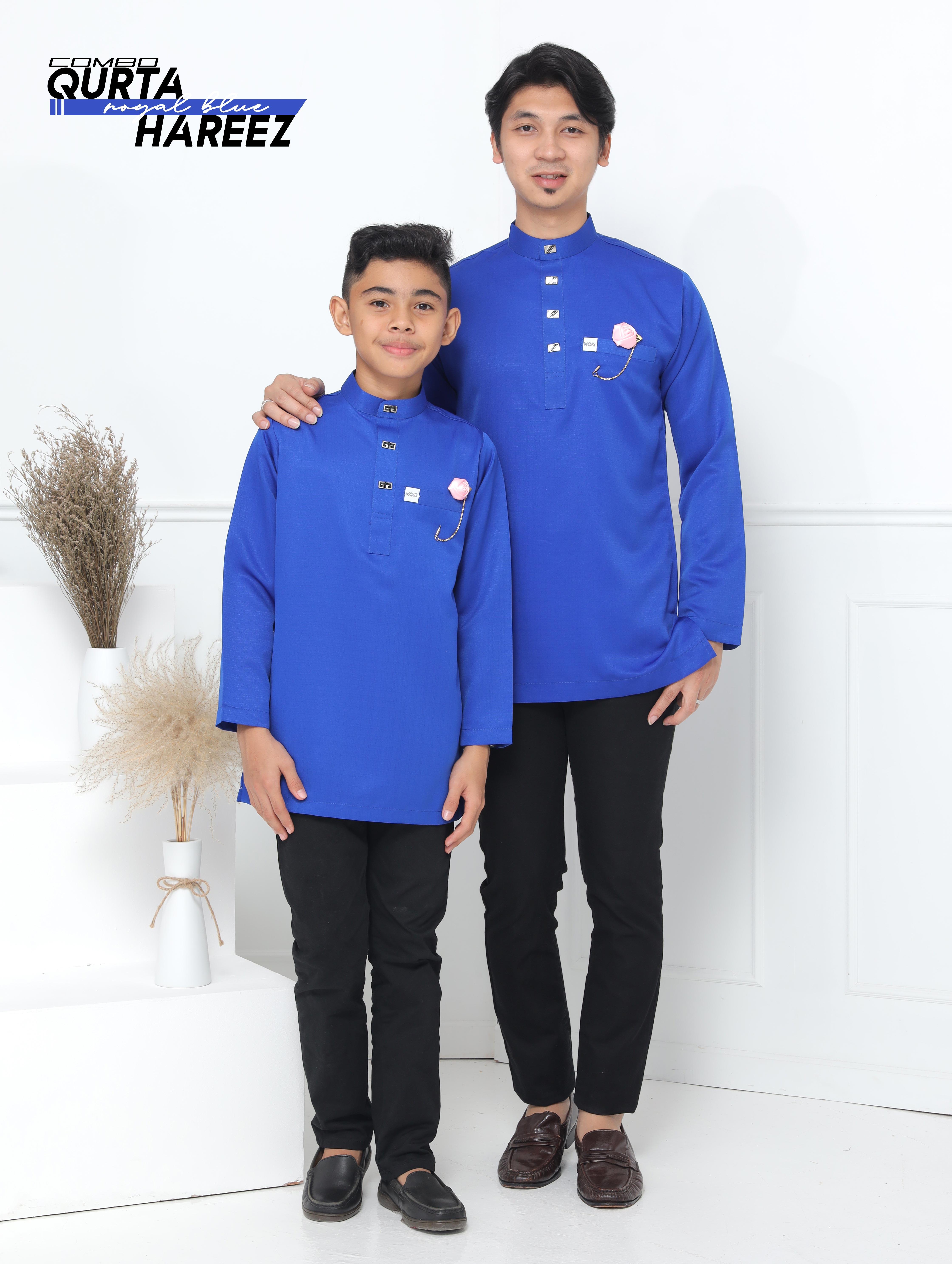 Qurta Hareez In Royal Blue
