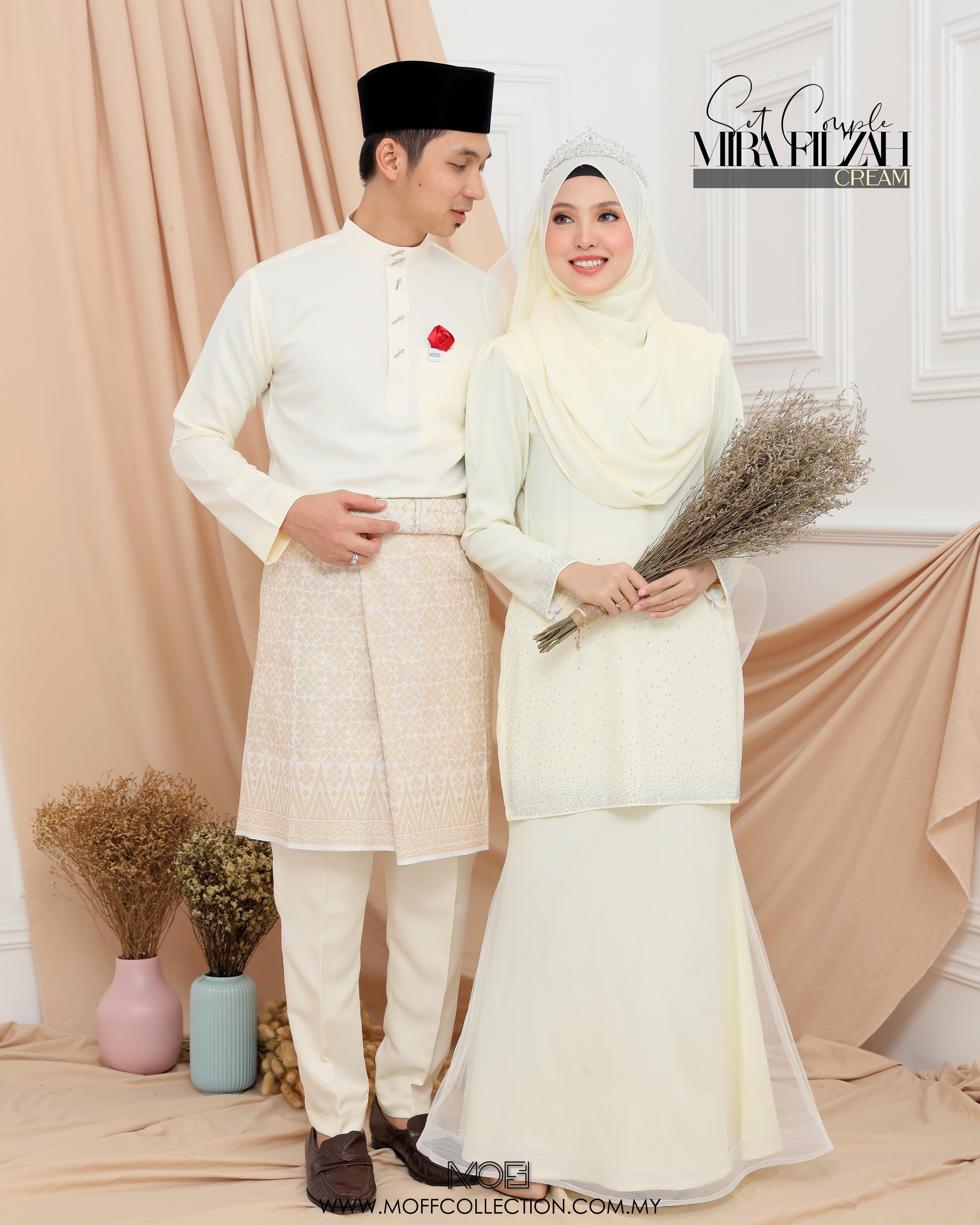 Bridal Set MiraFilzah In Cream