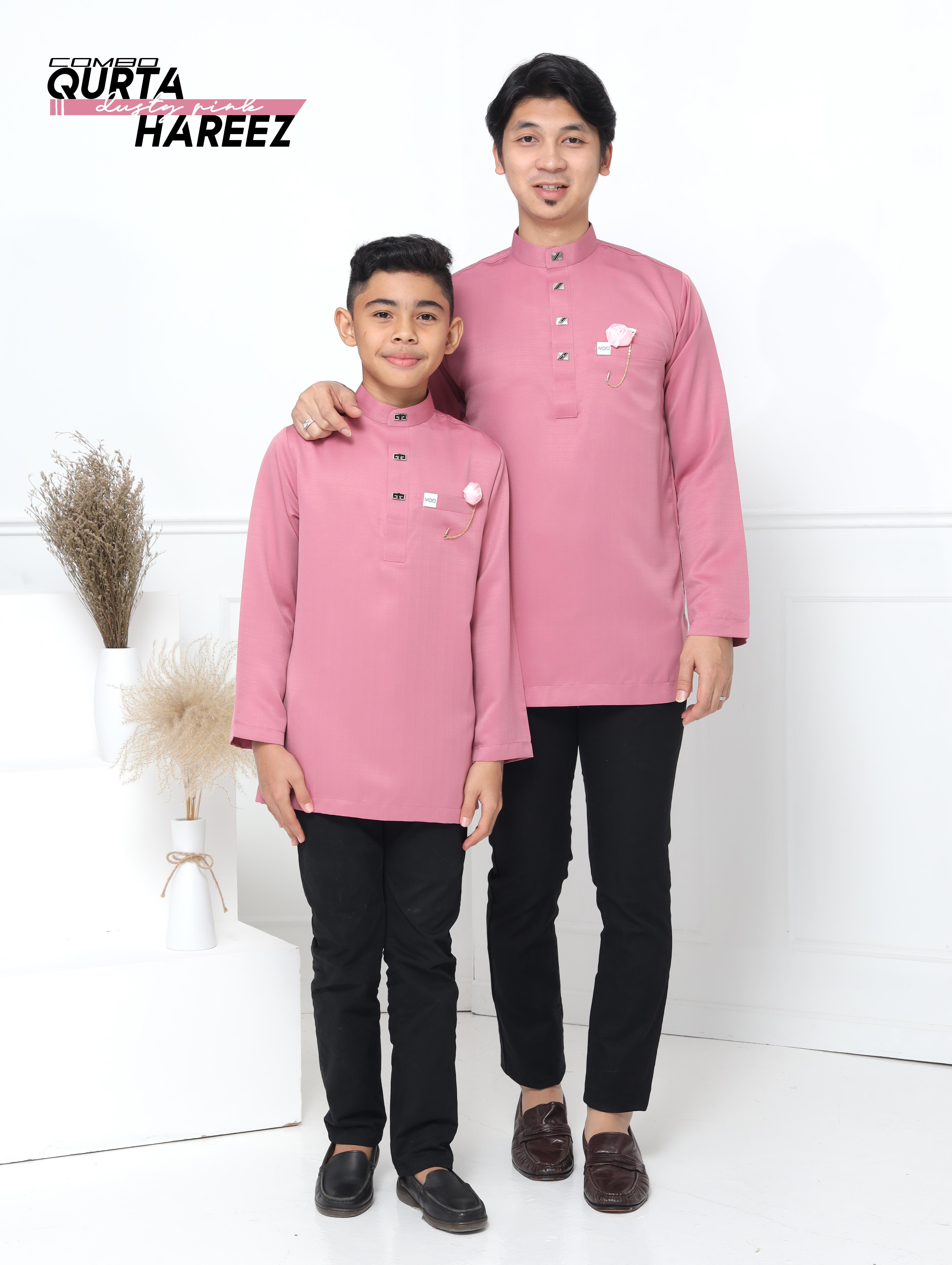Qurta Hareez In Dusty Pink