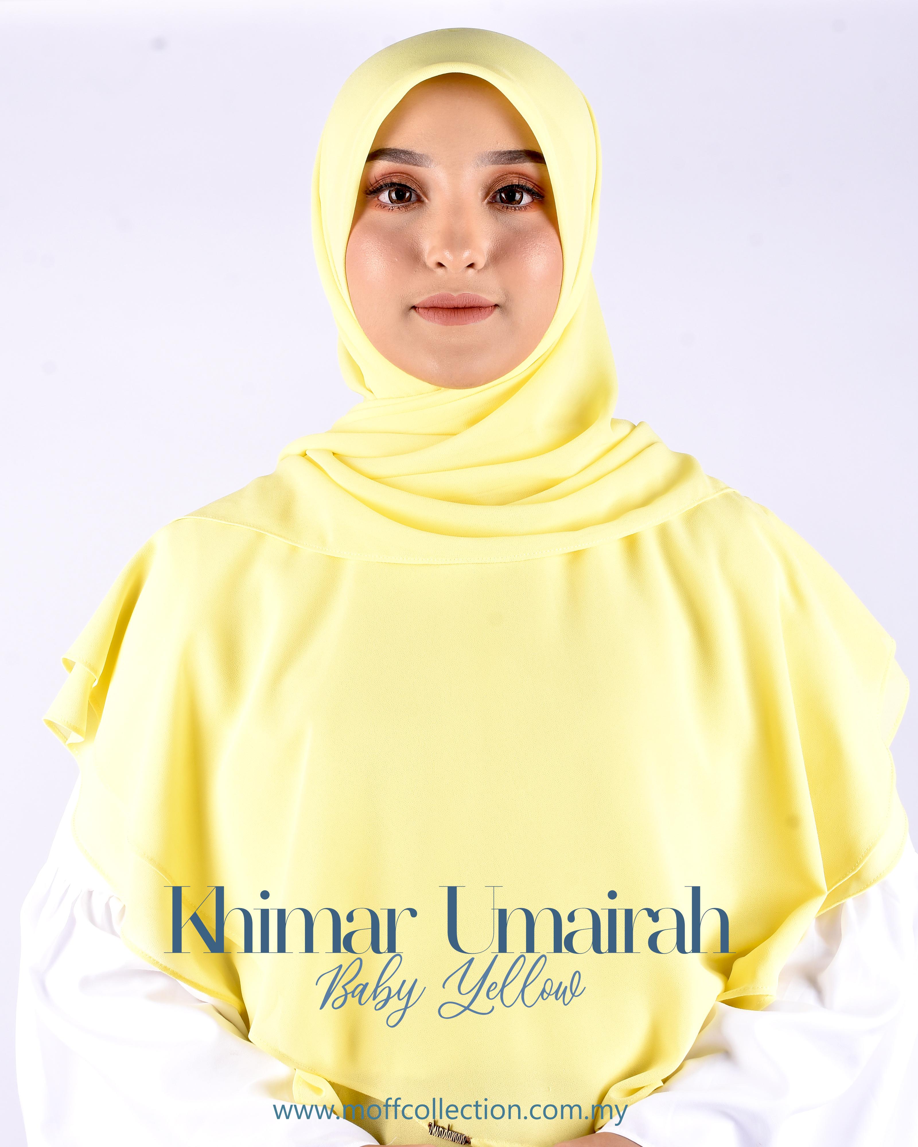 Khimar Umairah In Baby Yellow