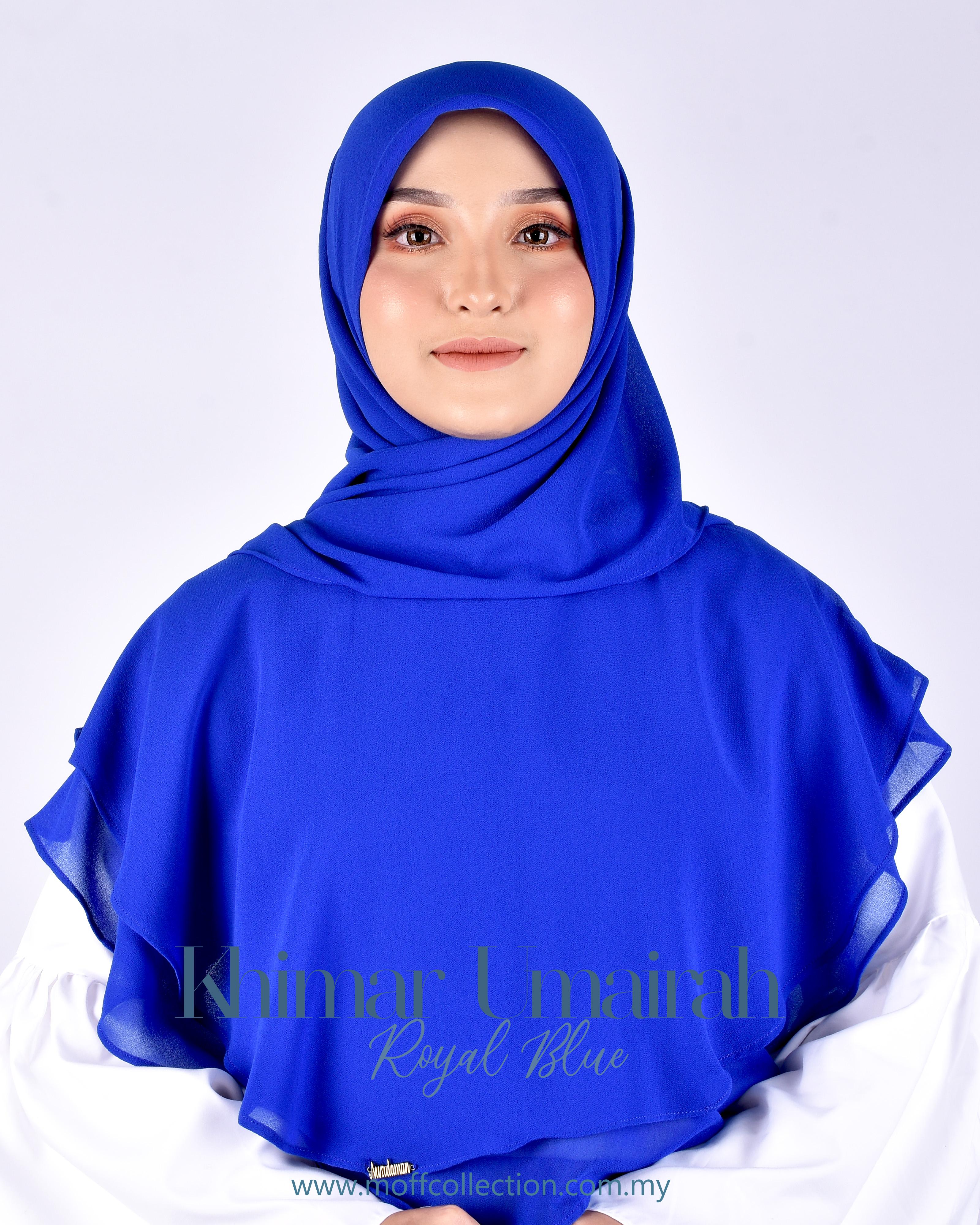 Khimar Umairah In Royal Blue