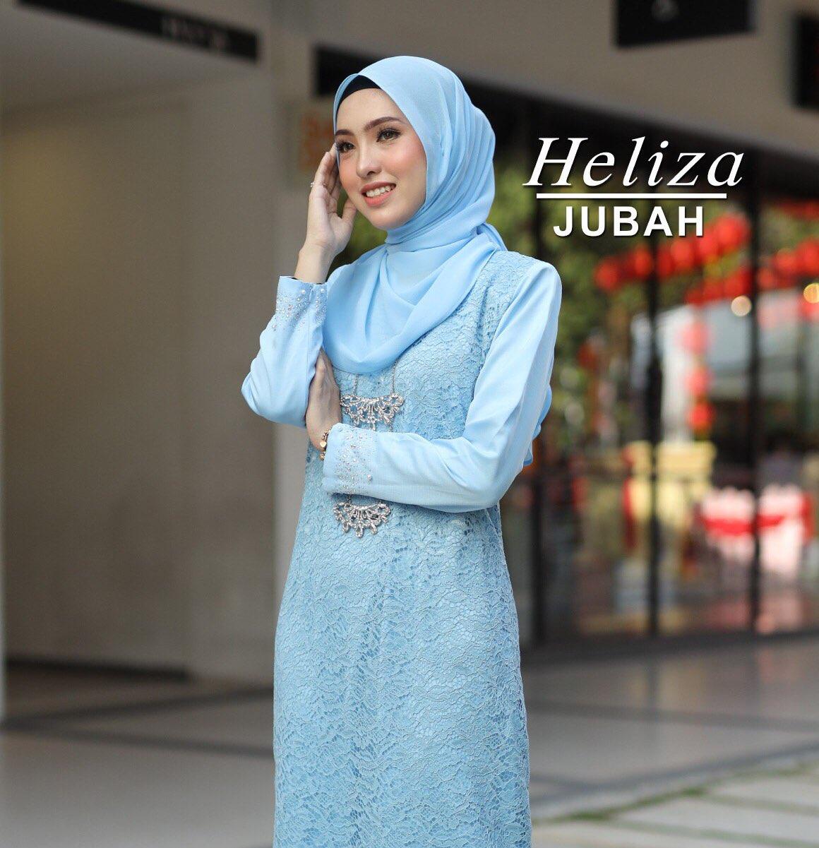 JUBAH HELIZA BABY BLUE