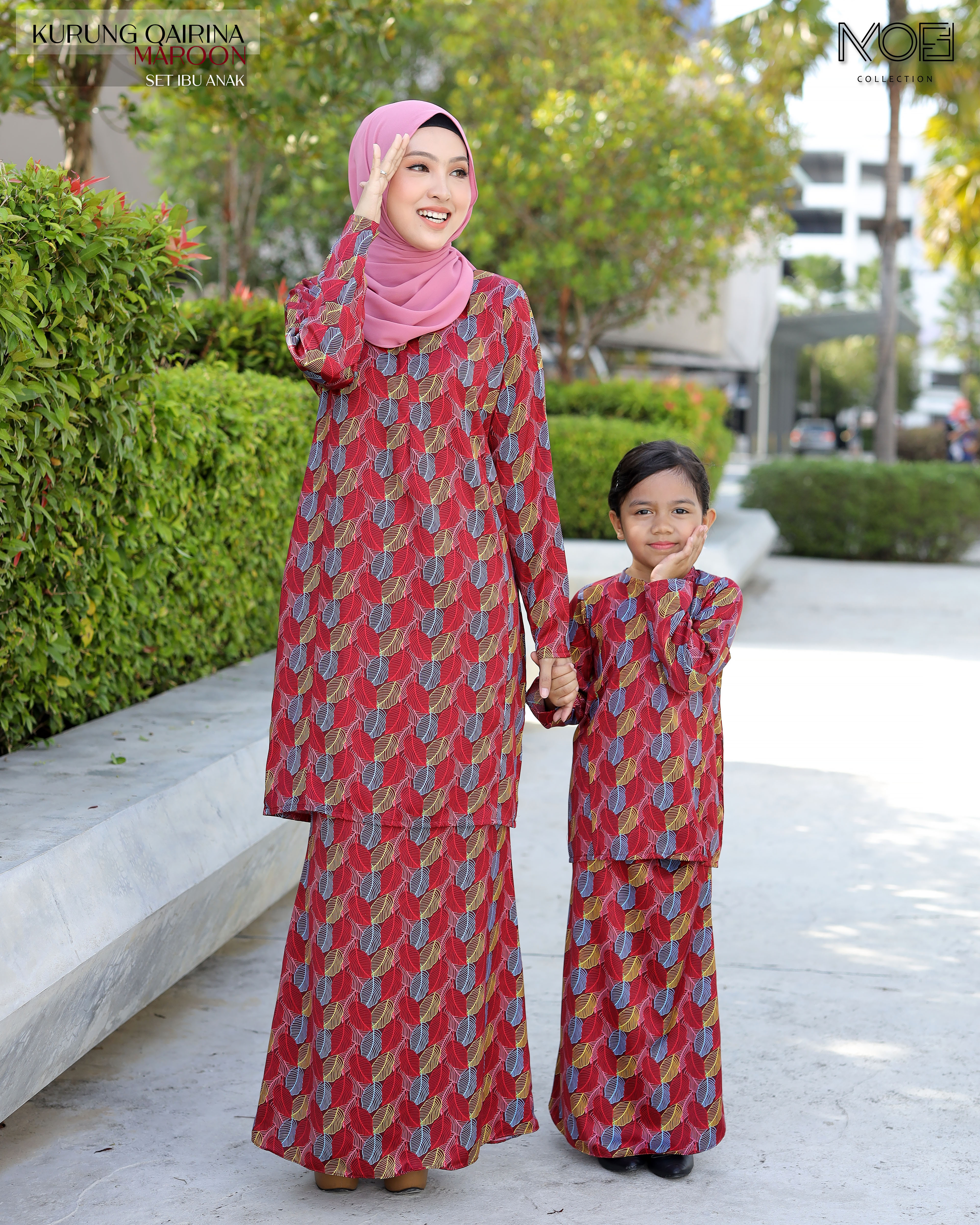 Qairina Kids In Maroon