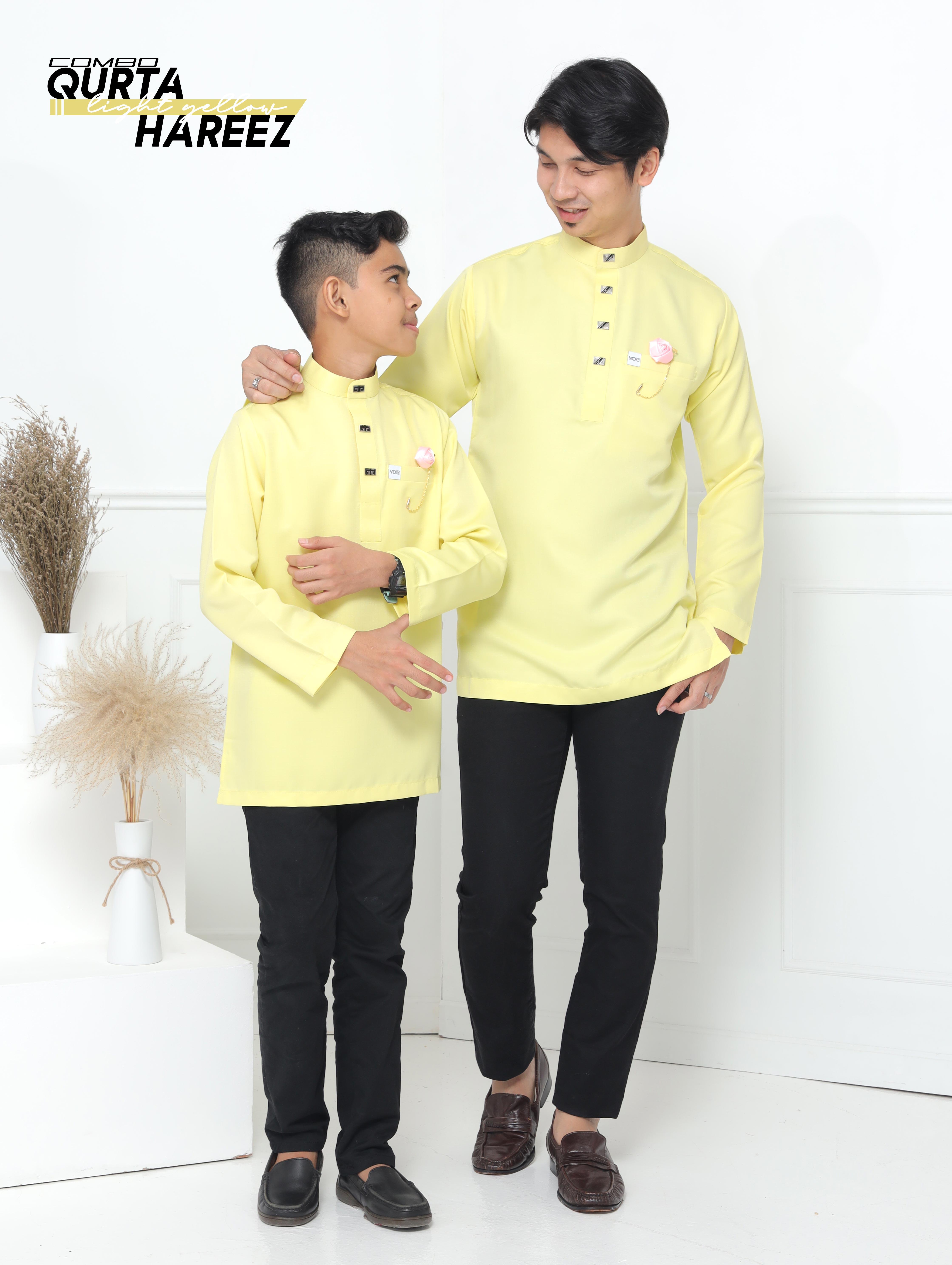 MOFF Qurta Hareez In Baby Yellow