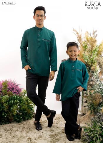 Rayyan Kurta In Emerald Green