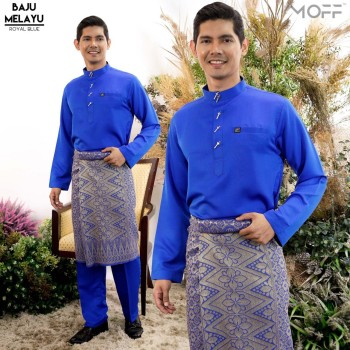 Melayu Moden In Royal Blue