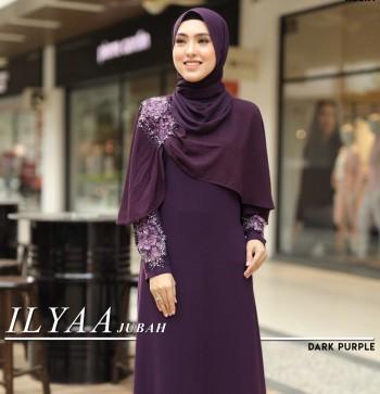 Ilyaa Jubah In Dark Purple