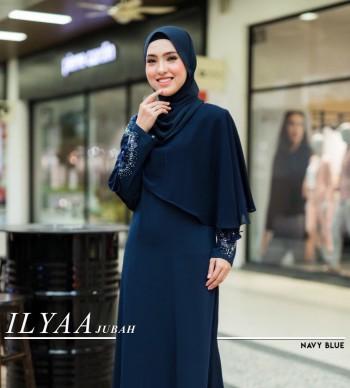 Ilyaa Jubah In Navy Blue
