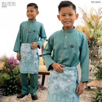 Melayu Kids In Pine Green