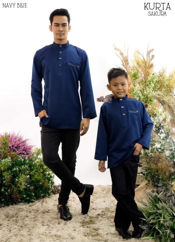 Rayyan Kurta In Navy Blue