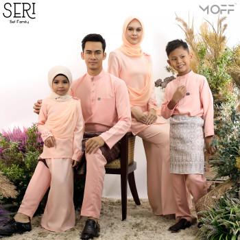 SET FAMILY KURUNG SERI PEACH
