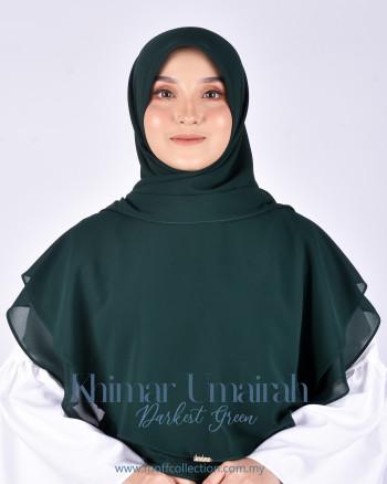 Khimar Umairah In Darkest Green