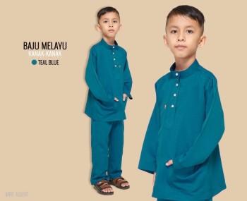 Melayu Kids In Teal Blue