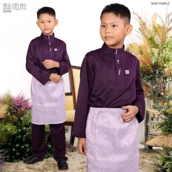 Melayu Kids In Dark Purple