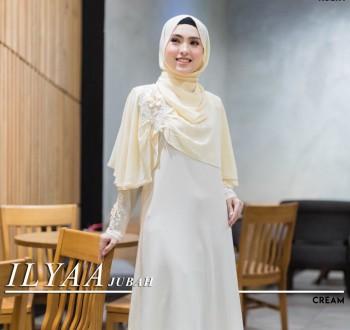 Ilyaa Jubah In Cream