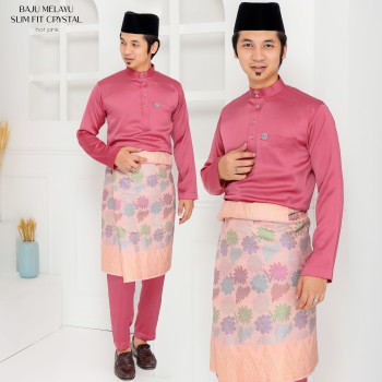 Crystal Silk Slimfit In Hot Pink