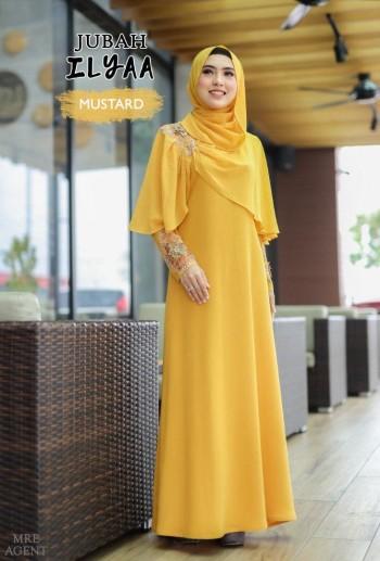 Ilyaa Jubah In Mustard