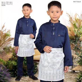 Melayu Kids In Navy Blue