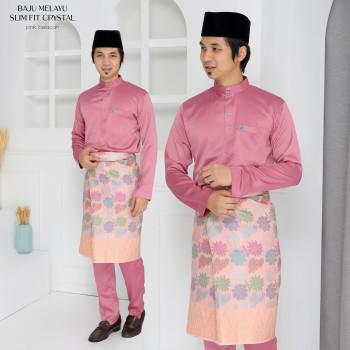Crystal Silk Slimfit In Dusty Pink