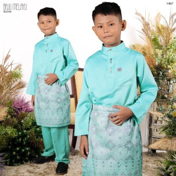 Melayu Kids In Mint Green