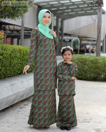 Qairina Kids In Emerald Green