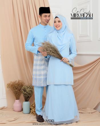 Bridal Set MiraFilzah In Baby Blue