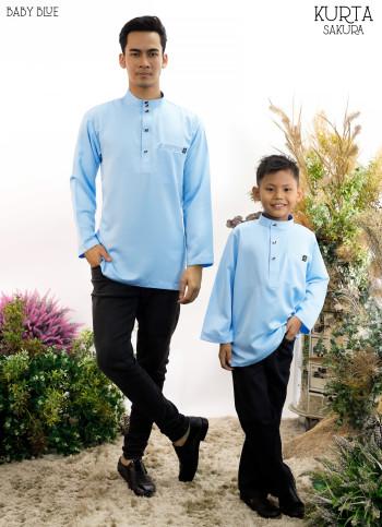 Rayyan Kurta In Baby Blue